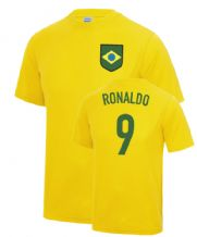 Ronaldo Brazil World Cup Football Fancy Dress Player T Shirt